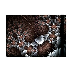 Lines Background Light Dark 81522 3840x2400 Apple Ipad Mini Flip Case by amphoto