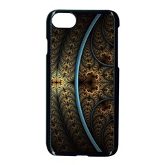 Lines Dark Patterns Background Spots 82314 3840x2400 Apple Iphone 7 Seamless Case (black) by amphoto