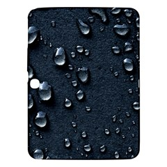 Surface Texture Drops Moisture 18094 3840x2400 Samsung Galaxy Tab 3 (10 1 ) P5200 Hardshell Case  by amphoto