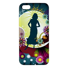 Abstraction Vector Heavens Woman Flowers  Apple Iphone 5 Premium Hardshell Case by amphoto