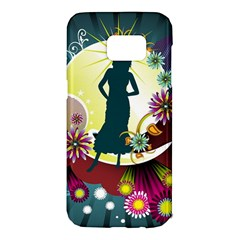 Abstraction Vector Heavens Woman Flowers  Samsung Galaxy S7 Edge Hardshell Case