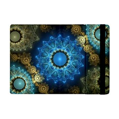 Patterns Lines Background Circles 56933 3840x2400 Apple Ipad Mini Flip Case by amphoto