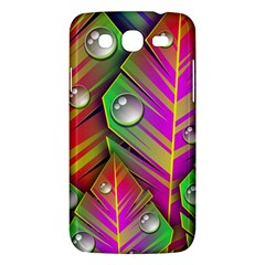 Leaves Dew Art Bright Lines Patterns  Samsung Galaxy Mega 5 8 I9152 Hardshell Case  by amphoto