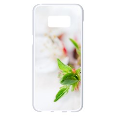 Fragility Flower Petals Tenderness Leaves  Samsung Galaxy S8 Plus White Seamless Case by amphoto