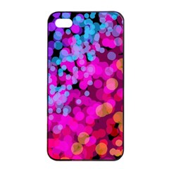Colorful Community Glare Bright  Apple Iphone 4/4s Seamless Case (black) by amphoto