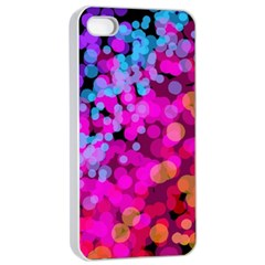Colorful Community Glare Bright  Apple Iphone 4/4s Seamless Case (white) by amphoto