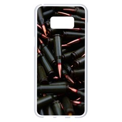 Bullets Ammunition Guns  Samsung Galaxy S8 Plus White Seamless Case by amphoto
