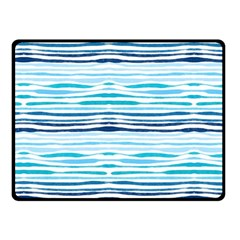 Watercolor Blue Abstract Summer Pattern Fleece Blanket (small) by TastefulDesigns