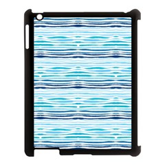 Watercolor Blue Abstract Summer Pattern Apple Ipad 3/4 Case (black) by TastefulDesigns