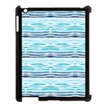 Watercolor blue abstract summer pattern Apple iPad 3/4 Case (Black) Front