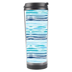 Watercolor Blue Abstract Summer Pattern Travel Tumbler by TastefulDesigns