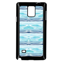Watercolor Blue Abstract Summer Pattern Samsung Galaxy Note 4 Case (black) by TastefulDesigns