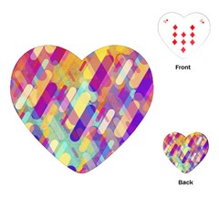 Colorful Abstract Background Playing Cards (heart)  by TastefulDesigns