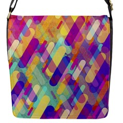 Colorful Abstract Background Flap Messenger Bag (s) by TastefulDesigns