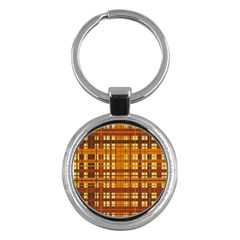 Plaid Pattern Key Chains (round)  by linceazul