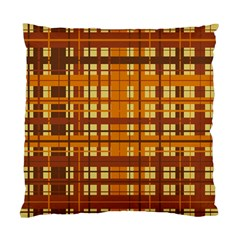 Plaid Pattern Standard Cushion Case (two Sides) by linceazul