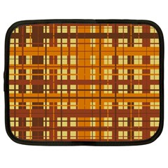 Plaid Pattern Netbook Case (xl)  by linceazul