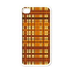 Plaid Pattern Apple Iphone 4 Case (white) by linceazul