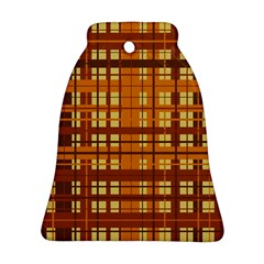 Plaid Pattern Ornament (bell) by linceazul