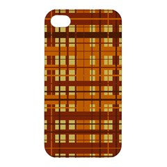 Plaid Pattern Apple Iphone 4/4s Premium Hardshell Case by linceazul