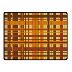 Plaid Pattern Double Sided Fleece Blanket (small)  by linceazul
