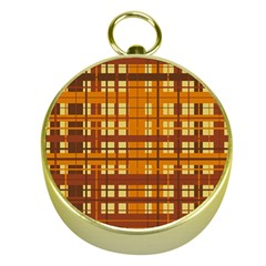 Plaid Pattern Gold Compasses by linceazul