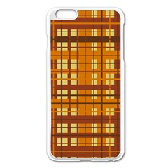 Plaid Pattern Apple Iphone 6 Plus/6s Plus Enamel White Case by linceazul