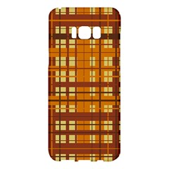Plaid Pattern Samsung Galaxy S8 Plus Hardshell Case  by linceazul