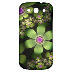 Abstraction Fractal Flowers Greens  Samsung Galaxy S3 S Iii Classic Hardshell Back Case by amphoto