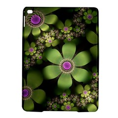 Abstraction Fractal Flowers Greens  Ipad Air 2 Hardshell Cases by amphoto