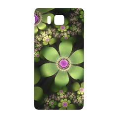 Abstraction Fractal Flowers Greens  Samsung Galaxy Alpha Hardshell Back Case by amphoto