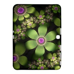 Abstraction Fractal Flowers Greens  Samsung Galaxy Tab 4 (10 1 ) Hardshell Case  by amphoto