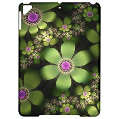 Abstraction Fractal Flowers Greens  Apple Ipad Pro 9 7   Hardshell Case by amphoto