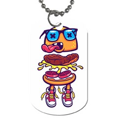 Burger Kill Dog Tag (two Sides) by quirogaart