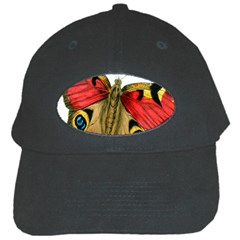 Butterfly Bright Vintage Drawing Black Cap