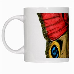 Butterfly Bright Vintage Drawing White Mugs by Nexatart