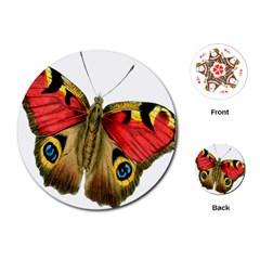 Butterfly Bright Vintage Drawing Playing Cards (round)  by Nexatart