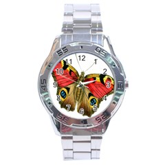 Butterfly Bright Vintage Drawing Stainless Steel Analogue Watch
