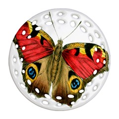 Butterfly Bright Vintage Drawing Ornament (round Filigree) by Nexatart