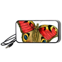 Butterfly Bright Vintage Drawing Portable Speaker (black)