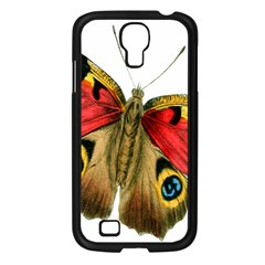 Butterfly Bright Vintage Drawing Samsung Galaxy S4 I9500/ I9505 Case (black) by Nexatart