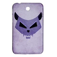 Purple Evil Cat Skull Samsung Galaxy Tab 3 (7 ) P3200 Hardshell Case  by CreaturesStore