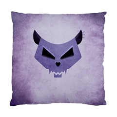 Purple Evil Cat Skull Standard Cushion Case (two Sides) by CreaturesStore