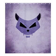 Purple Evil Cat Skull Shower Curtain 66  X 72  (large)  by CreaturesStore
