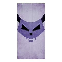 Purple Evil Cat Skull Shower Curtain 36  X 72  (stall)  by CreaturesStore
