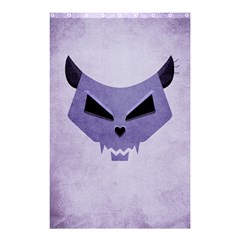 Purple Evil Cat Skull Shower Curtain 48  X 72  (small)  by CreaturesStore