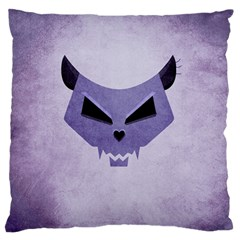 Purple Evil Cat Skull Standard Flano Cushion Case (two Sides) by CreaturesStore