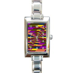 Autumn Check Rectangle Italian Charm Watch by designworld65
