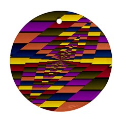 Autumn Check Ornament (round)