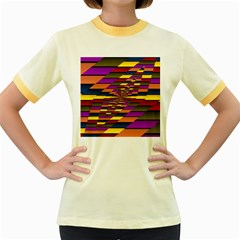 Autumn Check Women s Fitted Ringer T Shirts